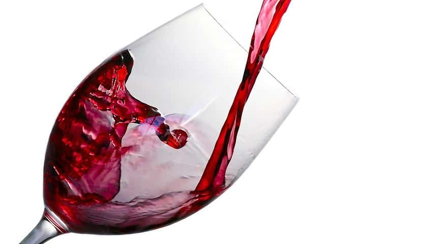 Wearable technology discovery - Red wine in glass