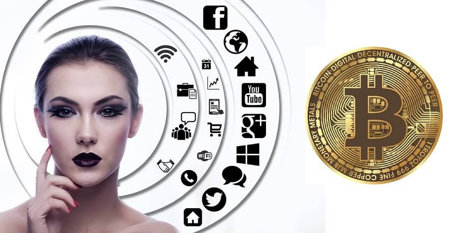 Webbeeo beta version - social media - woman - bitcoin