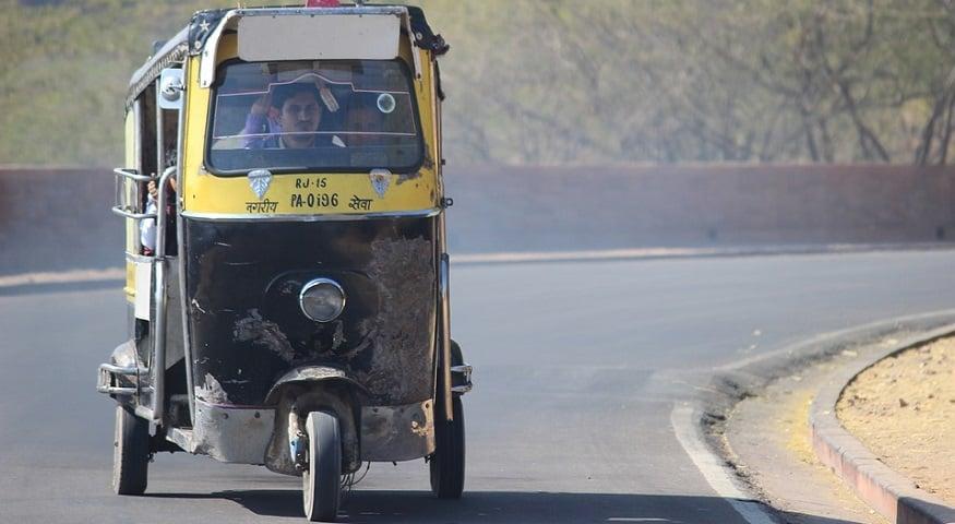 QR code safety - Rickshaw in India