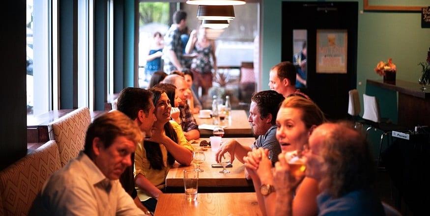 tabletop QR code - restaurant customers