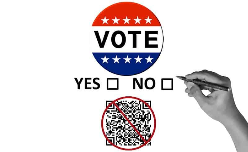 QR code ballot ban - U.S. vote
