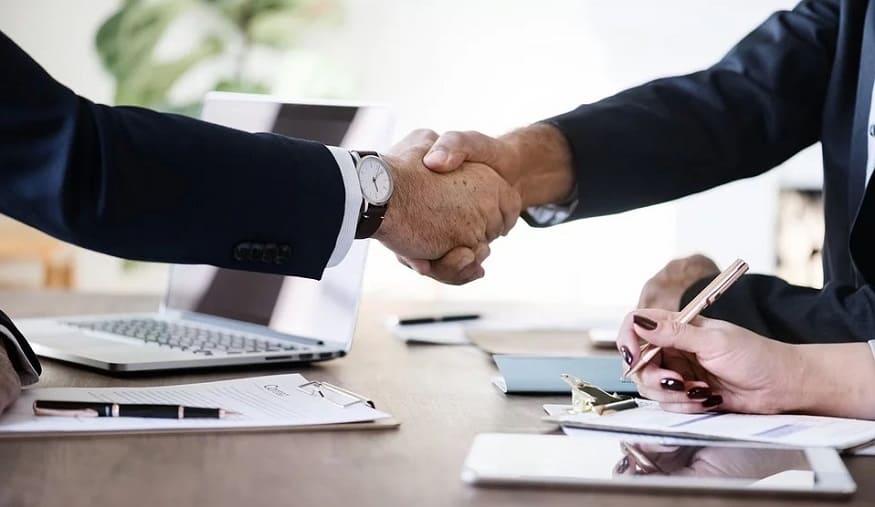 RFID Tech - Business Partnership - Handshake