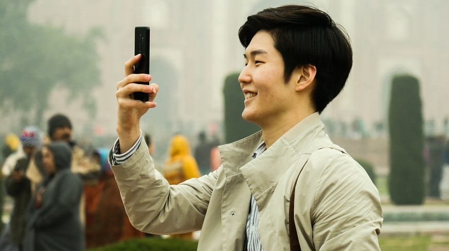 Chinese Smartphones - Man taking selfie
