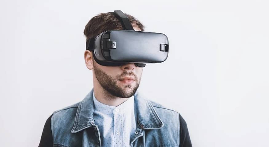 Facebook OS - Person wearing VR headset