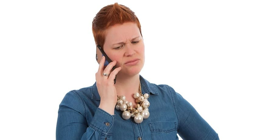Validated calls - woman on phone