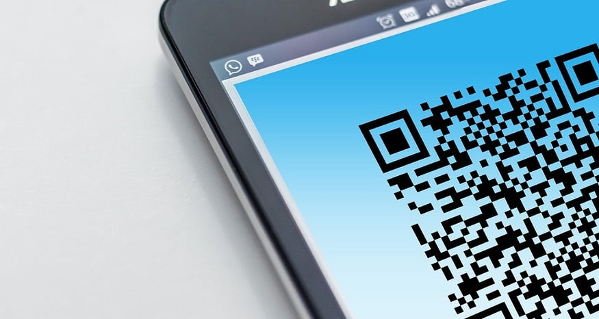 Integrated QR Codes - Quick response code on mobile phone