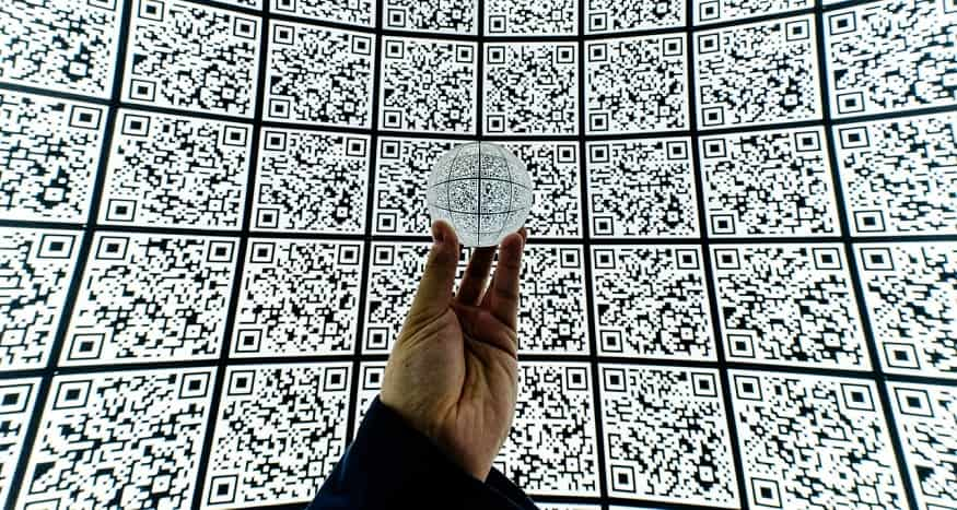 Invisible QR code system - wall of quick response codes