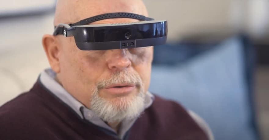Man wearing eSight deivce - eSight YouTube