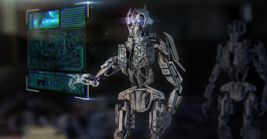 Artificial intelligence system - Robot with Computer