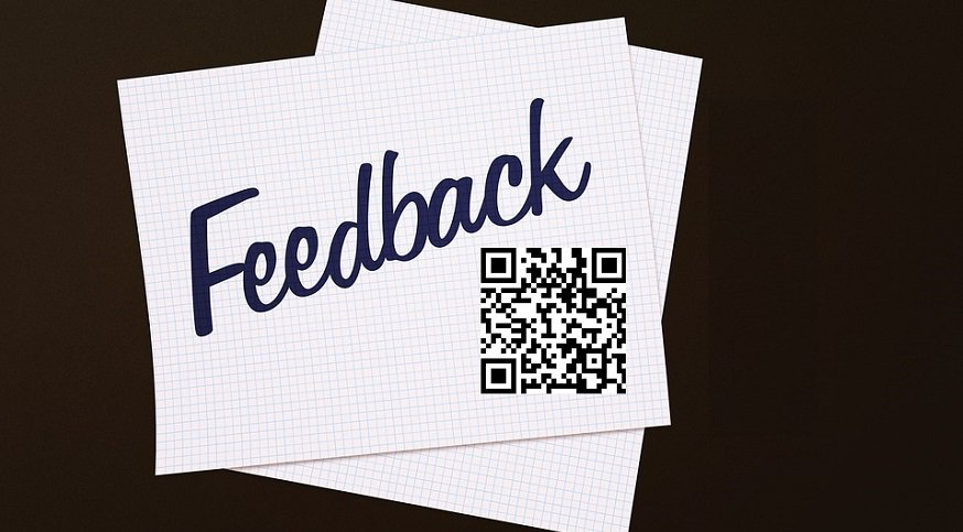 QR code feedback