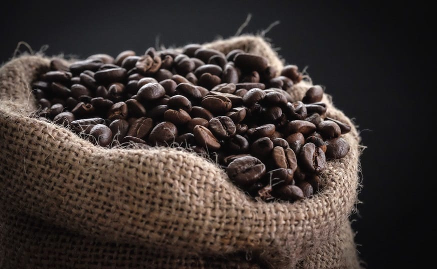 1850 Coffee QR codes - coffee beans in sack