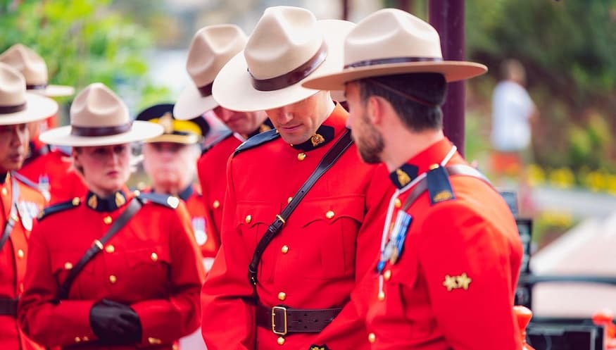 Clearview AI - Royal Canadian Mounted Police in ceremonial uniforms