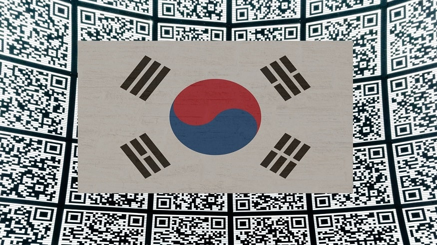 Nationwide QR code system - South Korea Flag - QR Codes