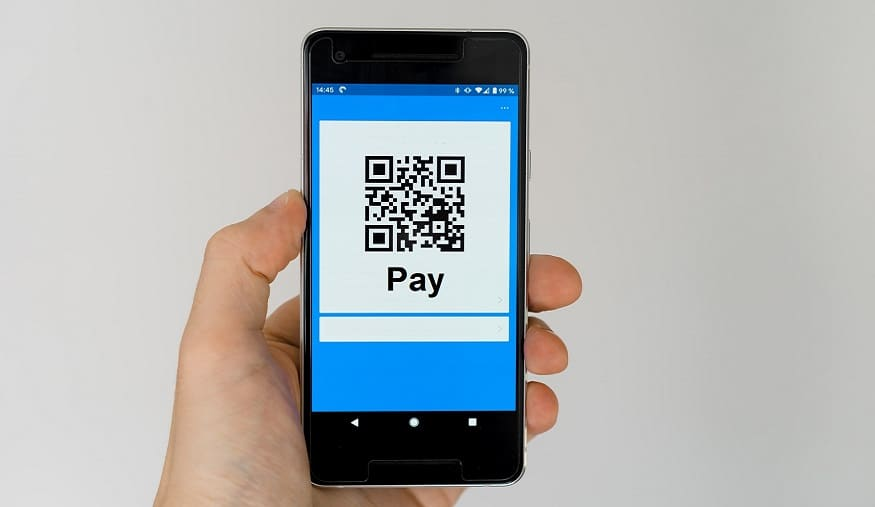 PayPal POS QR Codes - QR Code on mobile phone