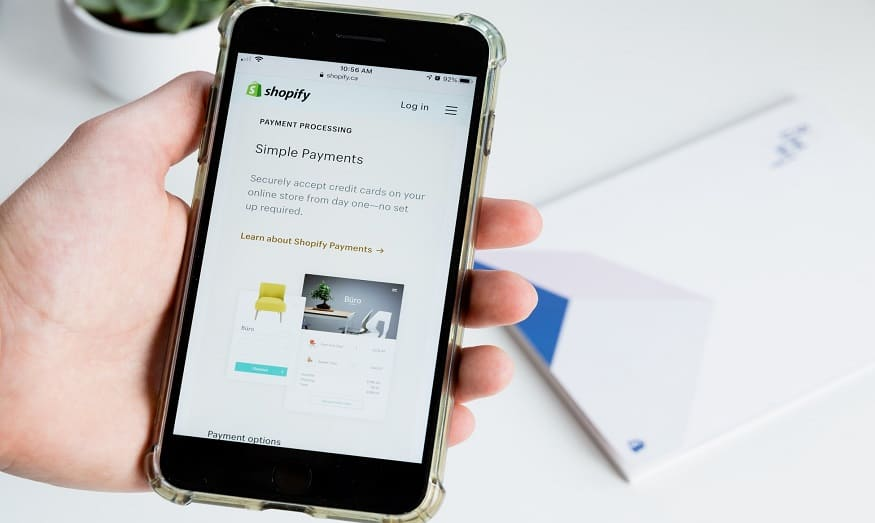 Shopify revenue - Shopify app on phone