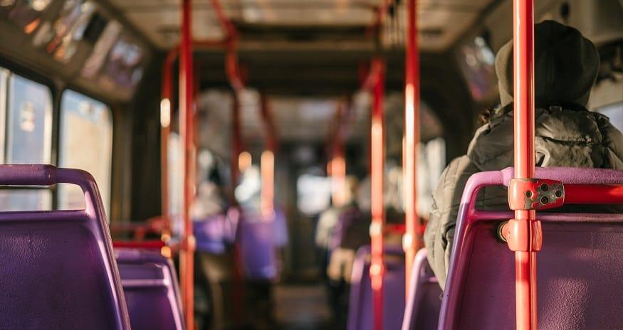 COVID-19 Tracer app - passenger on bus