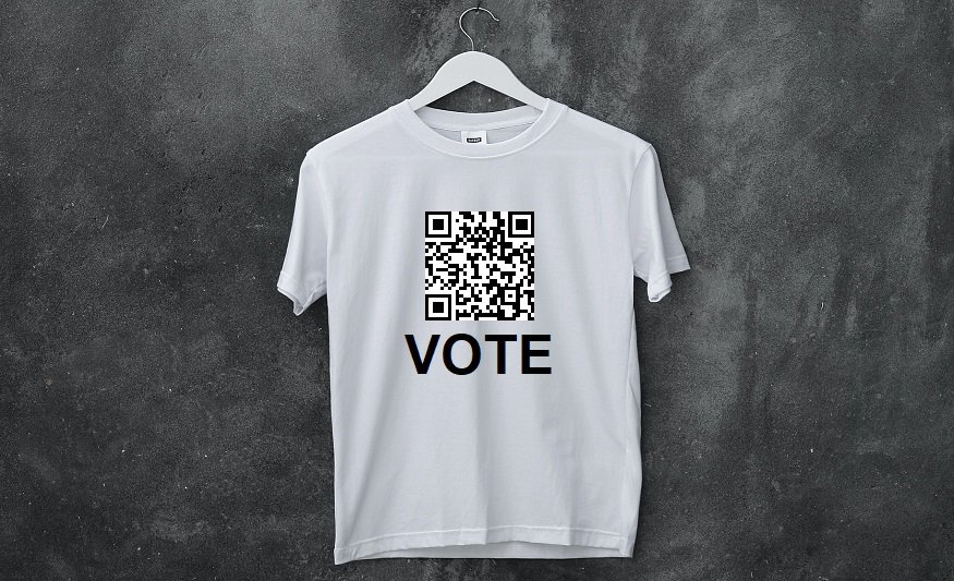 QR code T-shirts - white t-shirt with QR code on it