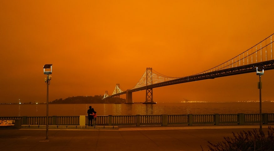 Smartphone cameras - orange sky, San Francisco