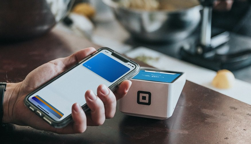 Square QR codes - Square pay machine and a mobile phone