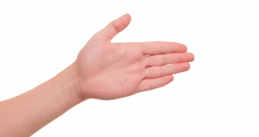 Amazon One hand palm
