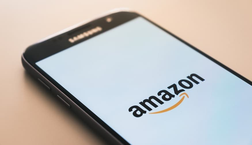 Amazon Prime Day - Amazon logo on mobile phone