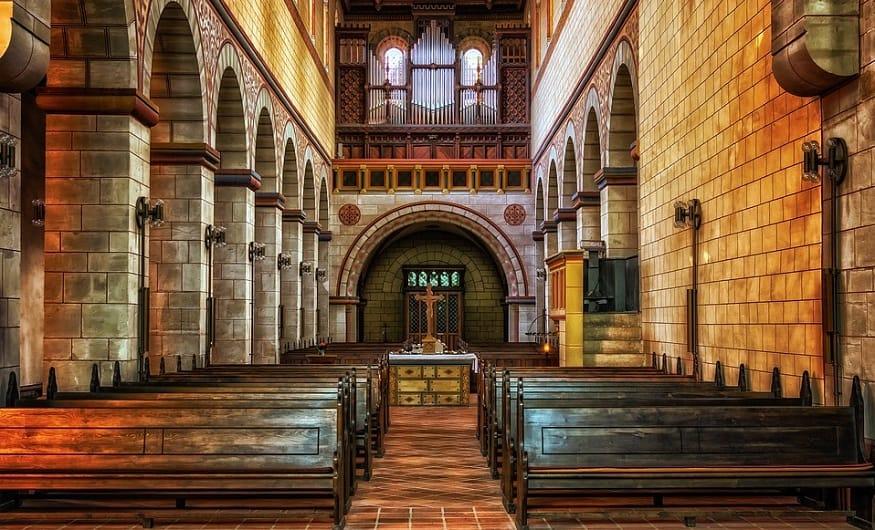 Church QR codes - inside of church