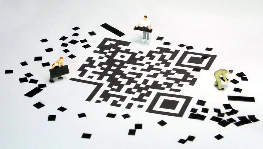 QR Code invention - figures building QR code