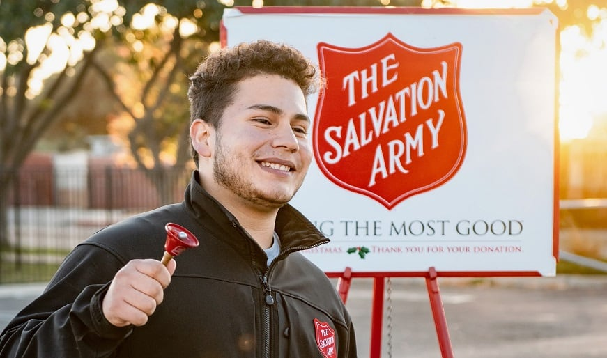 Salvation Army QR codes - man - Salvation Army charity