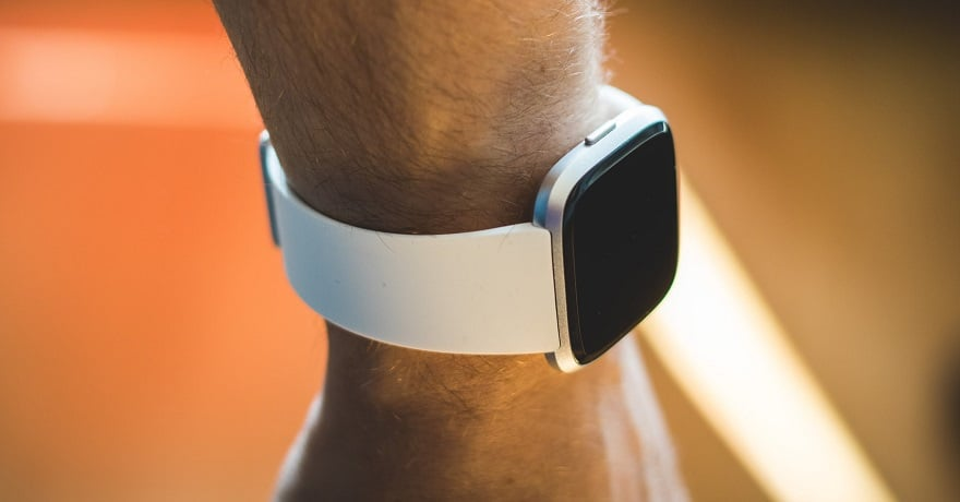 Fitbit acquisition - person wearing Fitbit device