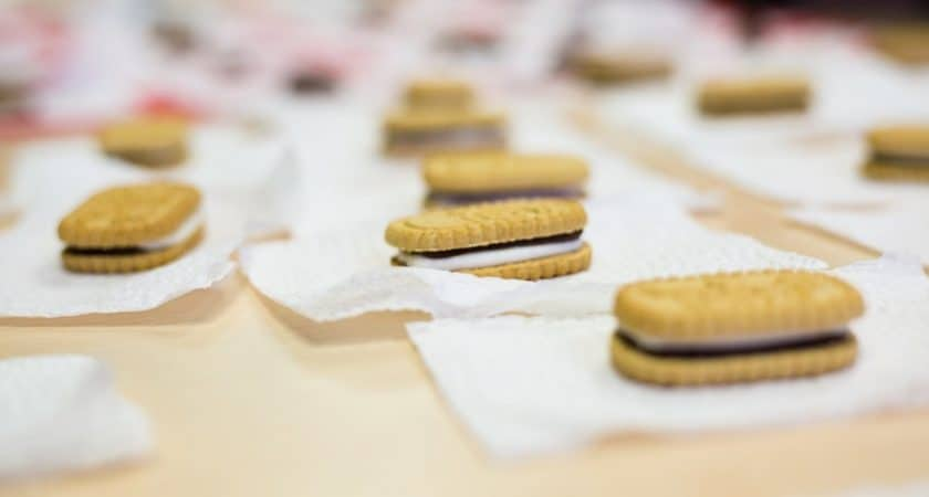 Mobile girl scout cookies orders - smores flavored Girl Scout cookies on table