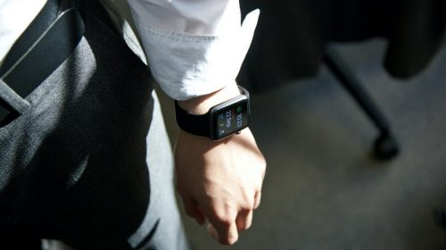 Biological battery - person wearing smartwatch