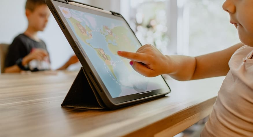 Mobile technology device - Child using digital technology