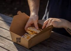 QR code take-out containers - food container with QR code