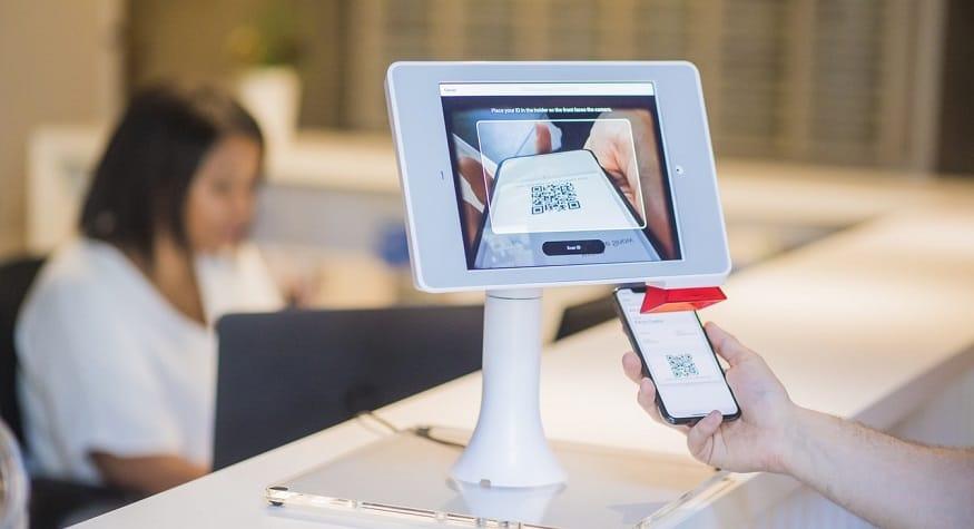 medical QR code - scanning QR code