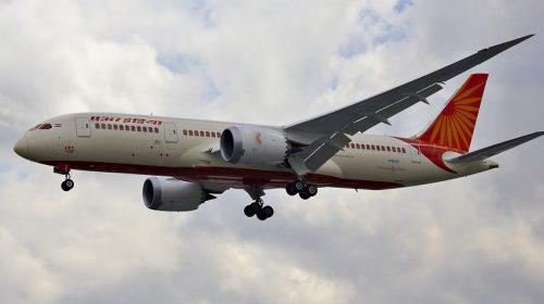 Mandatory QR code - Air India plane