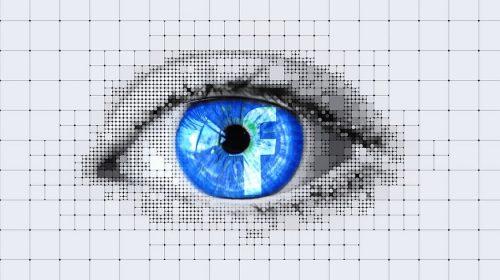 Deep Fakes - facebook logo in eye - digital
