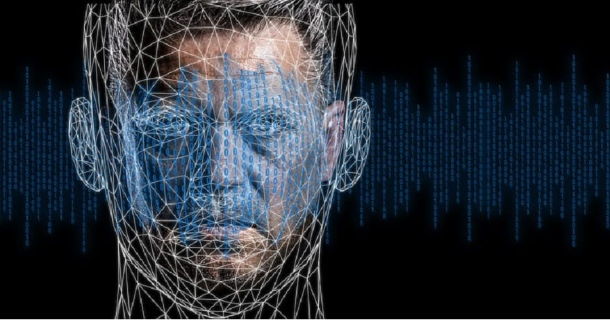 Facial recognition technology - binary - technology - person's face