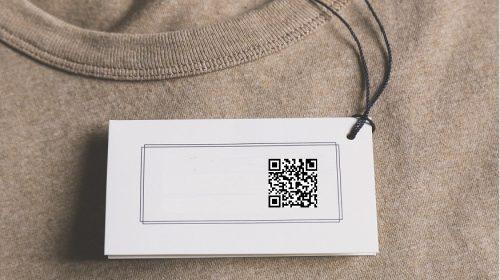 Mini QR codes - QR code on clothing tag