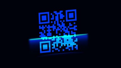 Contactless QR Code payments - QR code being scanned