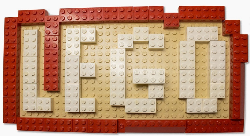 LEGO QR Code - LEGO sign made out of LEGO