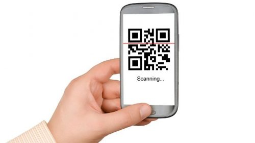 Vaccine record qr code - code on phone being scanned
