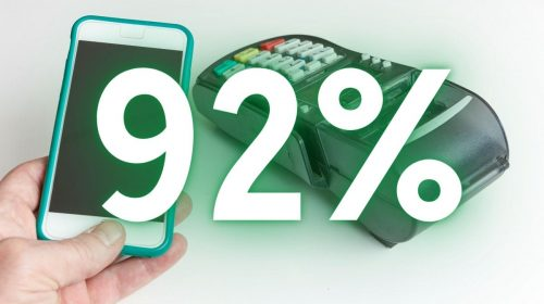 Mobile wallet transactions - 92%