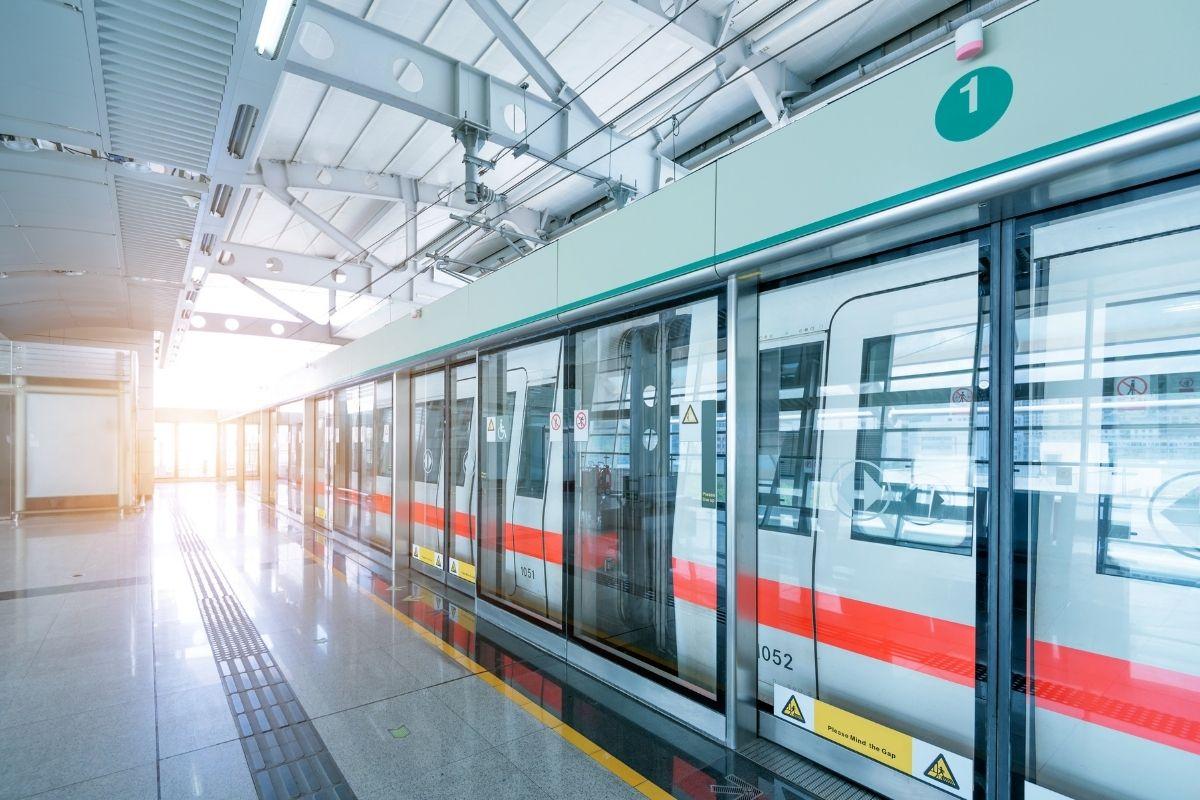 QR code scan - Shanghai metro train