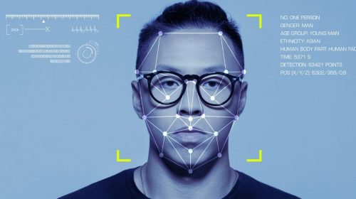 Facial recognition systems - Facial recognition used on man