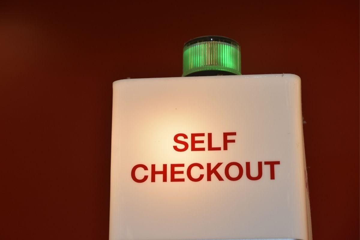 QR codes - Self-checkout sign