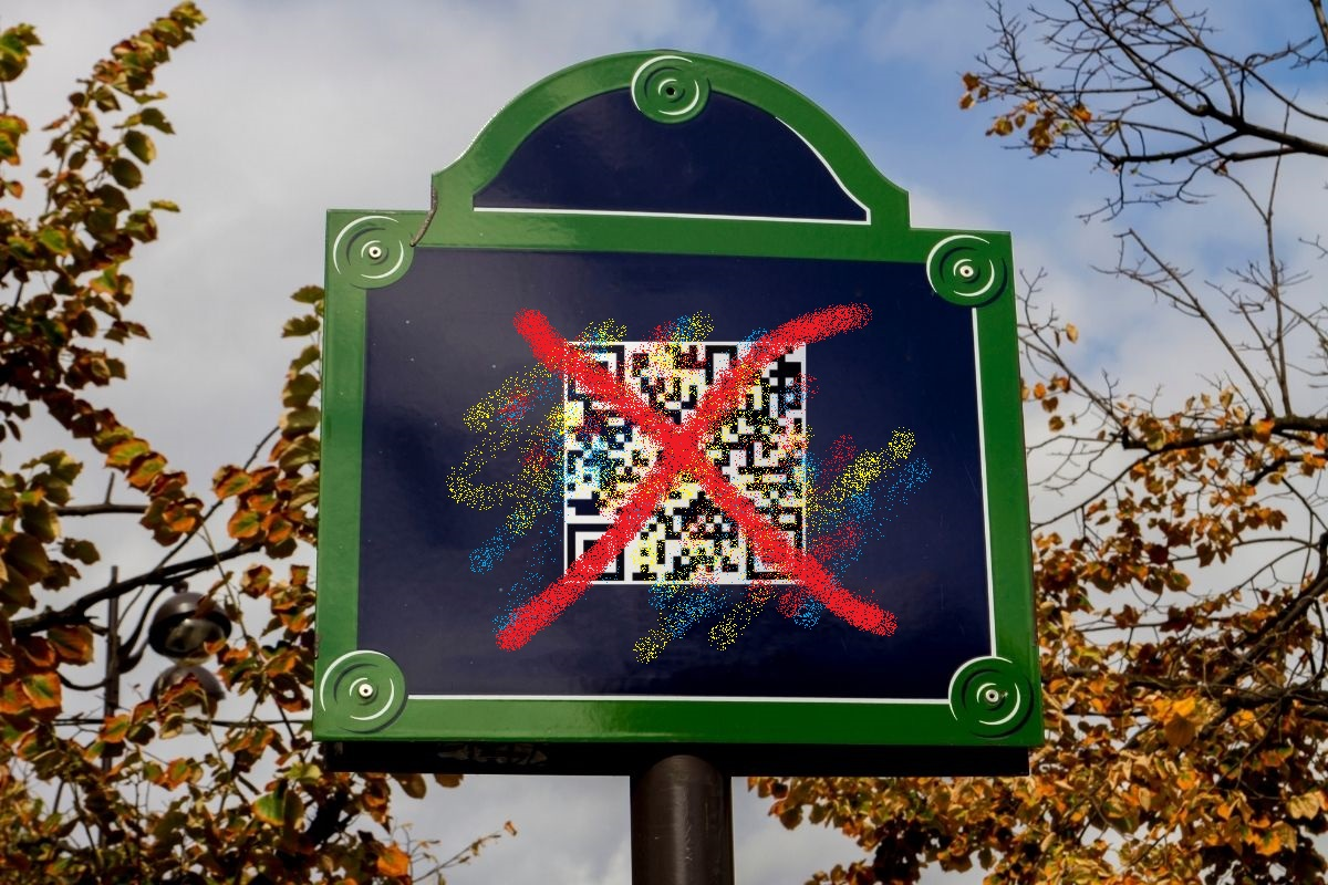QR codes vandalism