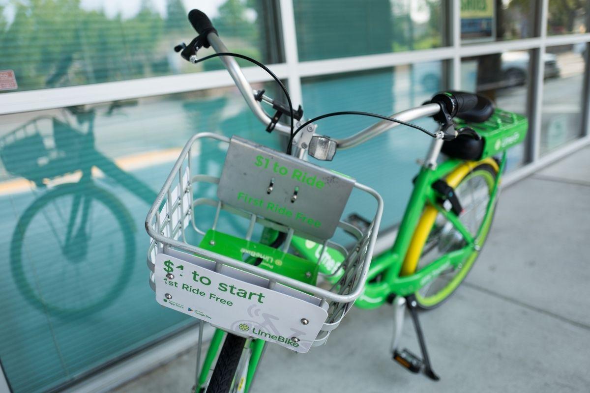 QR code stickers - Lime Bike