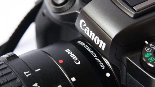 VR Camera - Close up of a Canon Camera